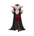 vampire icon count dracula costume vector image