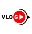 vlog active logo flat style vector image vector image