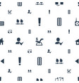 website icons pattern seamless white background vector image vector image