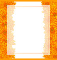 yellow chrysanthemum banner card border vector image vector image