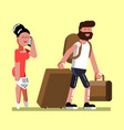young couple at airport vector image