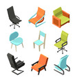 office furniture different chairs and armchairs vector image