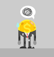 poor coin business man injured vector image