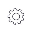 settings edit line icon sign vector image