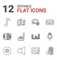 12 sound icons vector image vector image