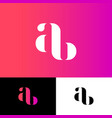 a and b monogram original symbol illusion vector image vector image