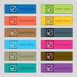 A check mark icon sign Set of twelve rectangular vector image vector image