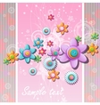 abstract background with flowers and buttons vector image vector image