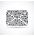 abstract envelope vector image
