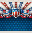 american background with shield vector image vector image