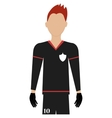 avatar man soccer player graphic vector image vector image