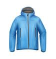 blue unisex jacket vector image