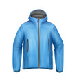 blue unisex jacket vector image vector image