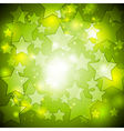 Bright green stars design vector image