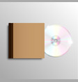 brown cd case vector image vector image