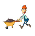 builder with trolle vector image vector image