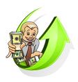 businessman dollars vector image vector image