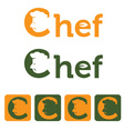 chef and web icons set design template vector image vector image