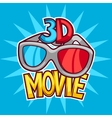 Cinema and 3d movie advertising background in vector image vector image