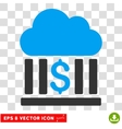 Cloud Bank Icon vector image vector image