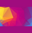 colorful triangle polygonal geometric design vector image vector image