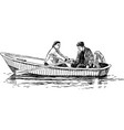 couple in boat trip vector image vector image