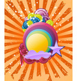 discotheque rainbow vector image vector image