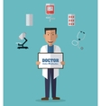 Doctor design medical and healthcare concept vector image vector image