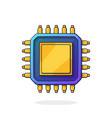 electronic integrated circuit top view vector image vector image