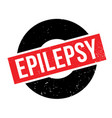 epilepsy rubber stamp vector image vector image