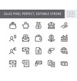 finance savings simple line icons vector image