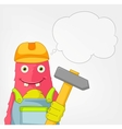 Funny Monster Contractor vector image