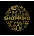 Golden concept with fashion elements vector image