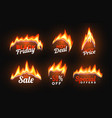 Hot sale badges with fire flame special offer