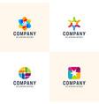 inspirational modern colorfull bundle logo vector image