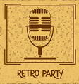 Invitation to retro party with microphone vector image vector image