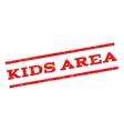 Kids Area Watermark Stamp vector image vector image