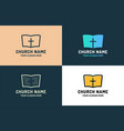 logo for religious community holy bible icon with vector image vector image