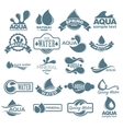 Logo set Label for mineral water Aqua icons vector