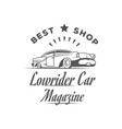 lowrider car magazine logotype vector image vector image
