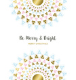 Merry Christmas gold tribal mandala art design vector image vector image