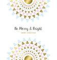 Merry Christmas gold tribal mandala art design vector image