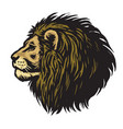 mighty lion head mascot logo vector image
