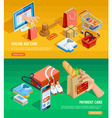 Online Shopping E-commerce Isometric Banners vector image vector image