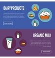 Organic products horizontal website templates vector image vector image