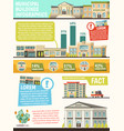 orthogonal municipal buildings infographics vector image vector image