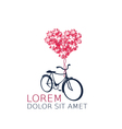 Retro bicycle with heart balloon vector image vector image