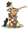 Sad blues or jazz man plays guitar vector image vector image