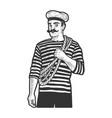 sailor man sketch vector image