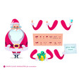 santa claus character for scenesp vector image